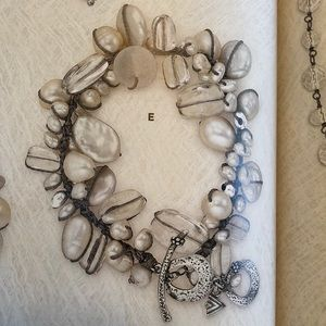 Silpada B2180 pearls and SS bracelet